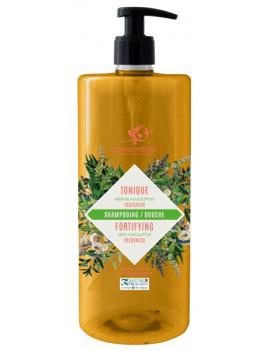 Shampoing douche Tonique 2 en 1 Fraicheur Menthe Eucalyptus 1L Cosmo Naturel shampooing douche tonique Abcbeauté