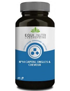 N° 14 Capital ongles cheveux 60 gélules végétales Equi nutri