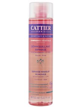 Démaquillant Biphase yeux et lèvres Symphonie Végétale 150ml Cattier maquillage bio Abcbeauté