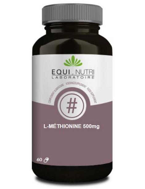 L-Méthionine 500 Equi-Nutri - 60 gélules detoxifiant Abcbeauté