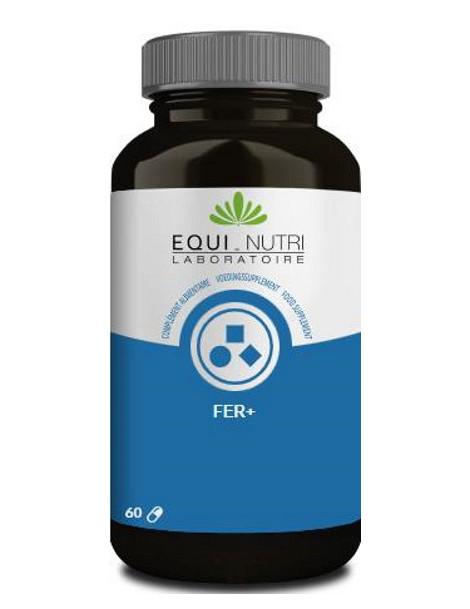 Fer Equi-Nutri - 60 gélules spiruline moringa abcbeauté