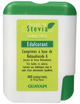 Stévia Rebaudioside A98 400 comprimés Guayapi 1 comprimé equivalent à 1 morceau de sucre Abcbeauté