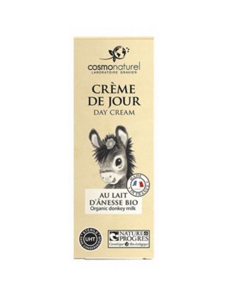 Crème de jour bio au lait d'ânesse 50ml Cosmo Naturel huiles végétales beurre de karité Abcbeauté