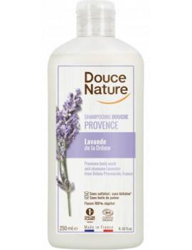 shampooing Douche lavande bio de Provence 500 ml Douce Nature - cosmétique d'hygiène bio