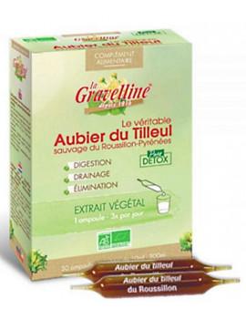 Aubier de tilleul du Roussillon 30 ampoules de 10 ml La Gravelline detox bio draineur pure cure dépurative Abcbeauté