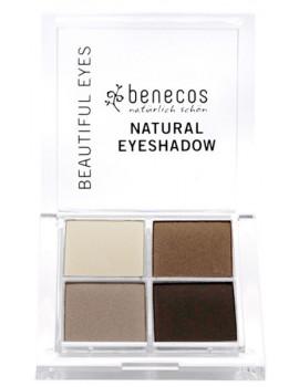 Fard à paupières 4 couleurs Coffee et Cream Benecos coffret maquillage bio Abcbeauté