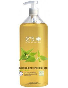 Shampooing cheveux gras Argile Ortie 500 ml C'Bio shampoing bio Abcbeauté
