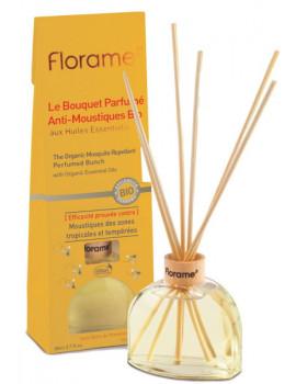 Bouquet Parfumé Anti Moustiques Bio 80 ml Florame parfum d'ambiance Abcbeauté