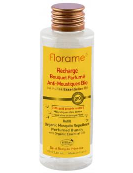 Recharge Bouquet Parfumé Anti Moustiques Bio 100 ml Florame répulsif Abcbeauté