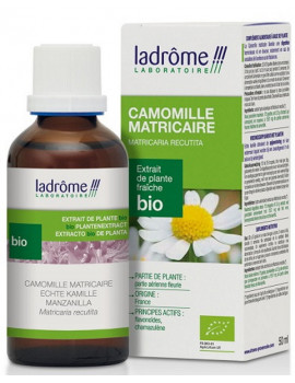 Camomille matricaire bio extrait de plantes fraiches 50ml Ladrome anti stress Abcbeauté
