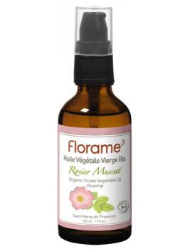 Huile de Rose Musquée rosier muscat bio 50 ml Florame jeunesse anti-âge Abcbeauté