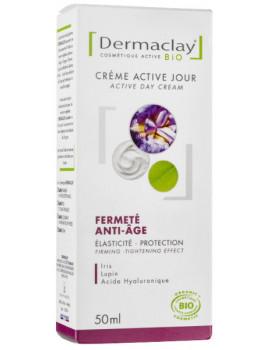 Crème active jour Fermeté Anti age 50 ml Dermaclay peaux dévitalisées et fragiles Abcbeauté