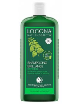 Shampooing brillance ortie 250 ml Logona silicium organique résistance capillaire Abcbeauté
