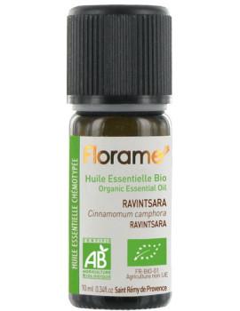 Huile essentielle bio Ravintsara 10 ml Florame Cinnamomum Camphora Abcbeauté