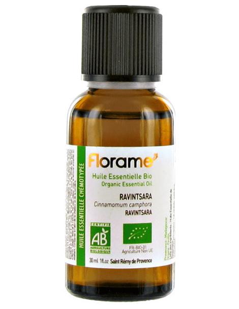 Huile essentielle bio Ravintsara 30 ml Florame Cinnamomum camphora antiseptique stimulante Abcbeauté