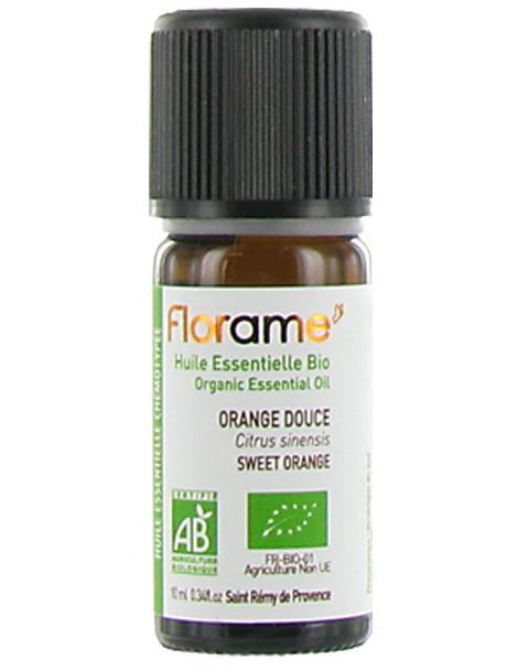Huile essentielle bio Orange douce 10 ml Florame citrus sinensis sérénité calmante digestive Abcbeauté