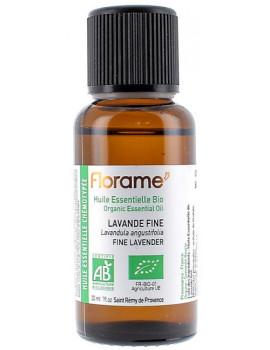 Huile essentielle bio Lavande Fine lavande vraie 30 ml Florame stress nervosité sommeil Abcbeauté