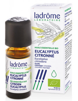 Huile essentielle bio Eucalyptus citronné 10 ml Ladrôme Eucalyptus citriodora Abcbeauté