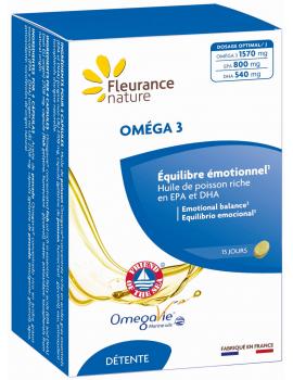 Oméga 3 - 60 capsules Fleurance Nature EPA DHA acides gras indispensables Abcbeauté