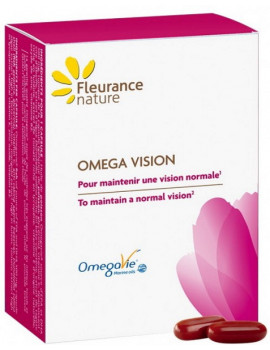 Oméga Vision Lutéine 30 capsules Fleurance Nature béta carotène lycopène Abcbeauté