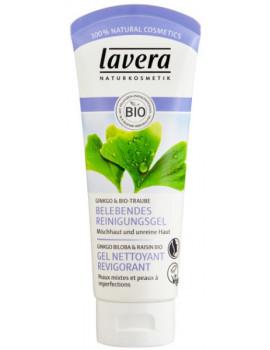 Gel Nettoyant Revigorant Ginkgo Raisin 100 ml Lavera pureté stimulation Abcbeauté