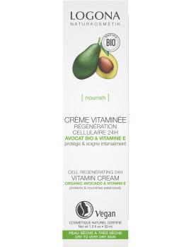 Crème vitaminée régénération cellulaire avocat bio 30ml Logona