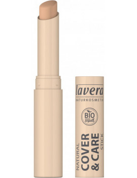 Correcteur stick Cover and care Miel Honey 03 1.7gr LAVERA peaux hâlées maquillage bio Abcbeauté
