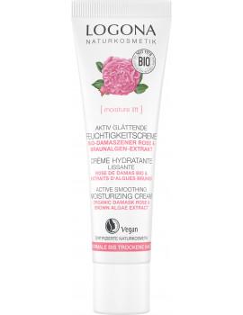 Crème jour hydratante et lissante rose de Damas bio et Kalpariane 30ml Logona - crème de jour bio abcbeauté