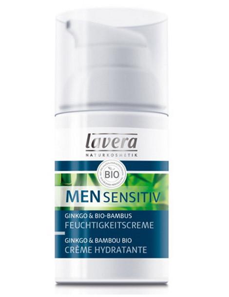 Crème hydratante Men Sensitiv Ginkgo Bambou 30 ml Lavera - soin bio pour le visage abcbeauté