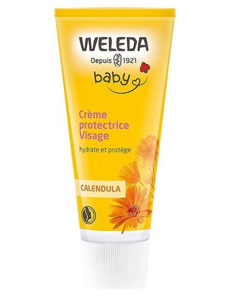 Crème protectrice Visage bébé Calendula 50 ml Weleda - crème hydratante bébé abcbeauté