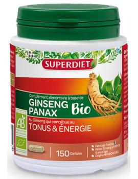 Ginseng Bio Tonus et énergie 150 gélules Super Diet Panax ginseng Meyer Abcbeauté