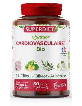Quatuor Ail Olivier Tilleul Aubepine 150 gelules Super Diet coeur cardio vasculaire Abcbeauté