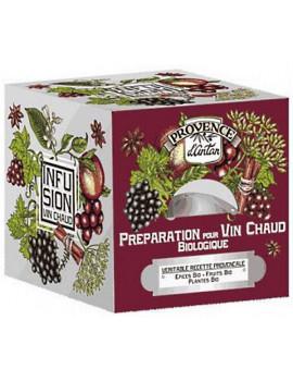 Préparation bio pour Vin chaud Recharge de 24 sachets Provence d'Antan