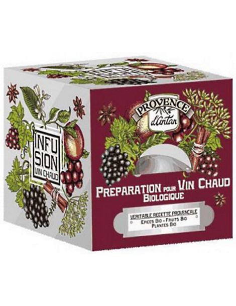 Préparation bio pour Vin chaud Recharge de 24 sachets Provence d'Antan infusion prête à l'emploi Abcbeauté