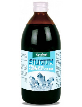 Silicium Prele Ortie 480 ml - Naturland silicium organique cartilages Abcbeauté