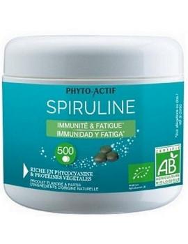 Spiruline bio Immunité Fatigue 500 comprimés Phyto-actif spiruline 500mg Abcbeauté tonus
