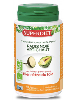 Radis Noir Artichaut Bio Super Diet 90 gélules foie digestion Abcbeauté