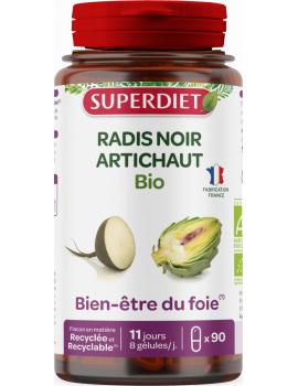 Radis Noir Artichaut bio 90 gelules 210mg Super Diet