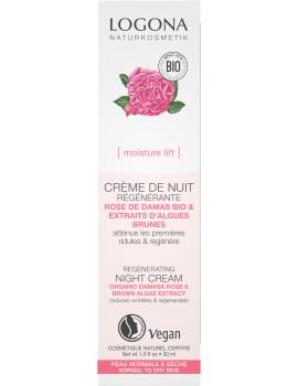 Crème nuit régénérante rose de Damas bio et Kalpariane 30ml Logona - crème de nuit bio abcbeauté
