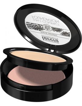 Fond de teint compact 2en1  Ivoire 01 10 gr Lavera poudre compacte bio maquillage Abcbeauté