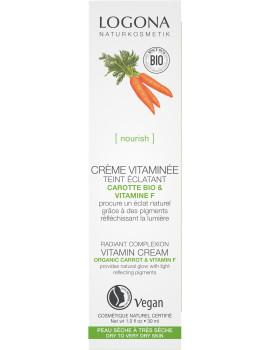 Crème vitaminée embellisseur teint carotte bio 30ml Logona - cosmétique bio abcbeauté