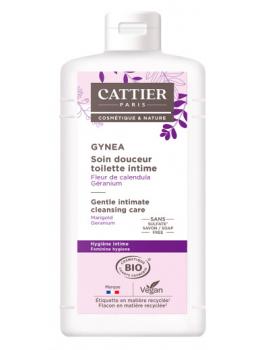 Soin douceur Gynéa Fleur de Calendula Géranium 200 ml Cattier sans savon hygiène intime de la femme Abcbeauté