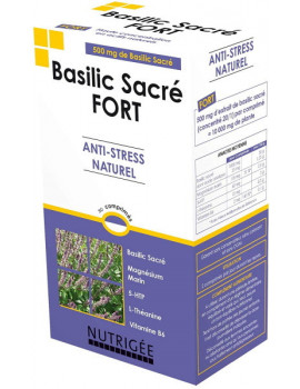 Basilic Sacré fort Anti stress naturel 30 comprimés Nutrigee aide psychologique Abcbeauté