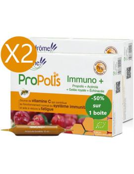Lot duo Immuno Plus 2 x 20 ampoules le 2ème à 50pc Ladrôme promo immunité Abcbeauté