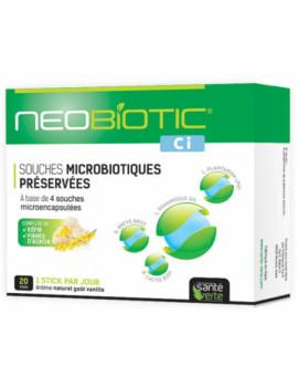 Neobiotic CI Probiotiques 20 Sticks Santé Verte microbiotiques flore immunité colon irritable Abcbeauté