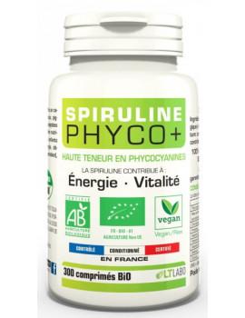 Spiruline Bio PHYCO PLUS 300 comprimés LT Labo phycocyanine antioxydant Abcbeauté