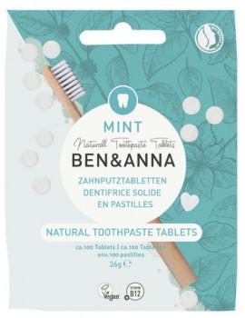Dentifrice solide 100 pastilles sans fluor 36 gr Ben et Anna gout menthe abcbeauté