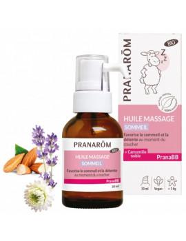 Huile de massage Sommeil bio PRANABB 30 ml Pranarôm calme le bébé Abcbeauté