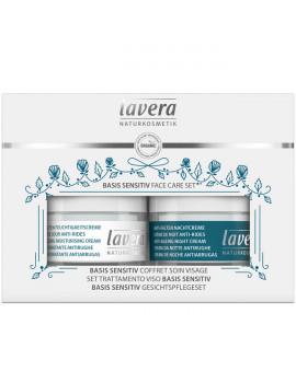 Coffret Soin du visage BASIS SENSITIV Jour et Nuit Lavera au coenzyme Q10, 3 produits de soin Abcbeauté