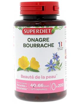 Super Diet  Huiles d'Onagre - Bourrache  200 capsules abcbeauté